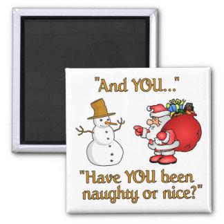 Aimant de Père Noël et de bonhomme de neige