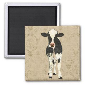 Aimant de vache à onyx et à perle
