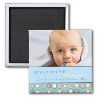 Aimant génial de photo de bébé de blocs