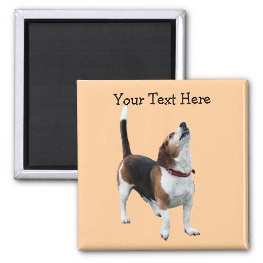 Aimant mignon de chien de beagle d'hurlement