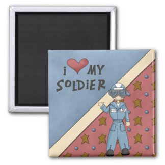 Aimant militaire d'homme de soldat de l'Armée de l