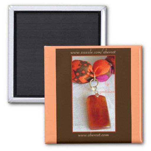 Aimant orange de pendentif de collier de prune de