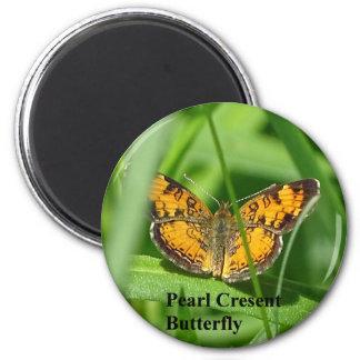 Aimant Papillon de croissant de perle
