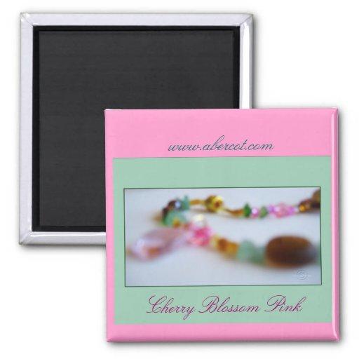 Aimant perlé de collier de rose de fleurs de ceris