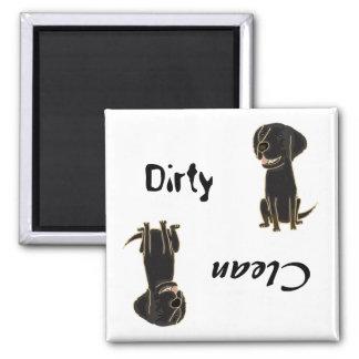 Aimant Plat-Enduit de chien d'arrêt de pattes sale