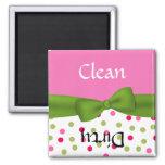 Aimant rose et vert lunatique de lave-vaisselle