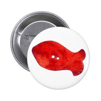 Aimant rouge de poissons de perles pin's avec agrafe