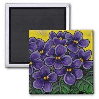 Aimant violet floral génial
