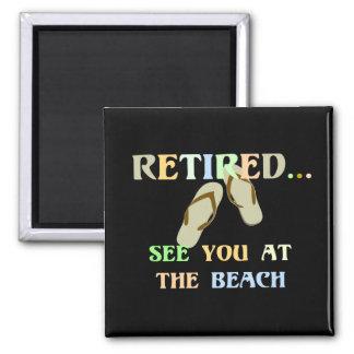 Aimant - Voyez-vous à la plage - hommes retirés