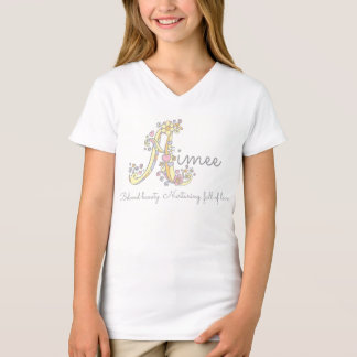 Aimee girls name meaning A monogram hearts T-Shirt