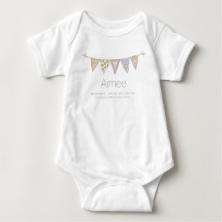 Aimee girls name meaning bunting flag t-shirt