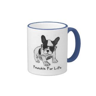 Aimez ces petits bouledogues français mignons mug ringer