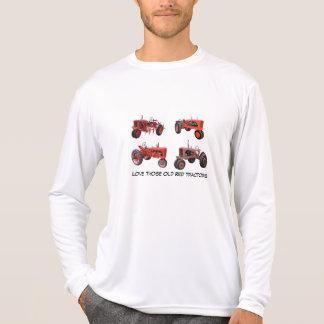 Aimez ces vieux tracteurs rouges t-shirts