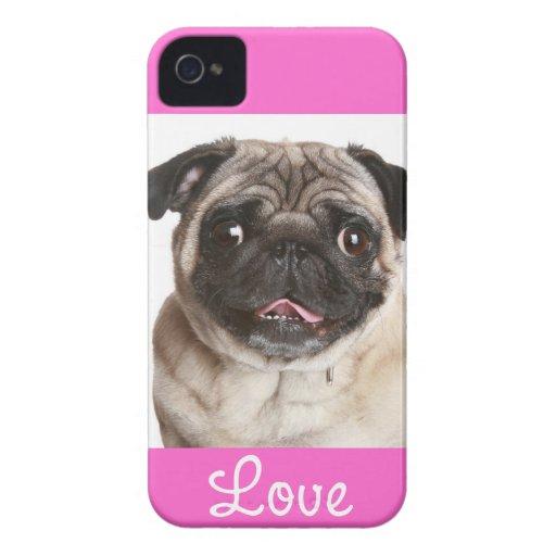 Aimez la couverture de cas de l'iPhone 4 de rose d