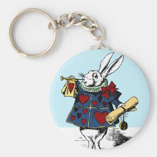 Aimez le lapin blanc Alice au pays des merveilles Porte-clés