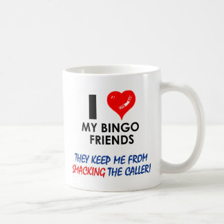 Aimez mes amis de bingo-test ! mug blanc