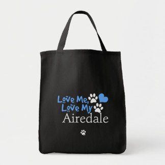 Aimez-moi, aimez mon Airedale Sacs