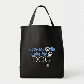 Aimez-moi, aimez mon chien (rouge) sacs