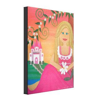 Aimez-moi Nots - 16x20 la princesse Castle Girl Toiles
