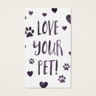 aimez votre animal familier cartes de visite