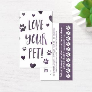 aimez votre bokeh de carte perforée d'animal