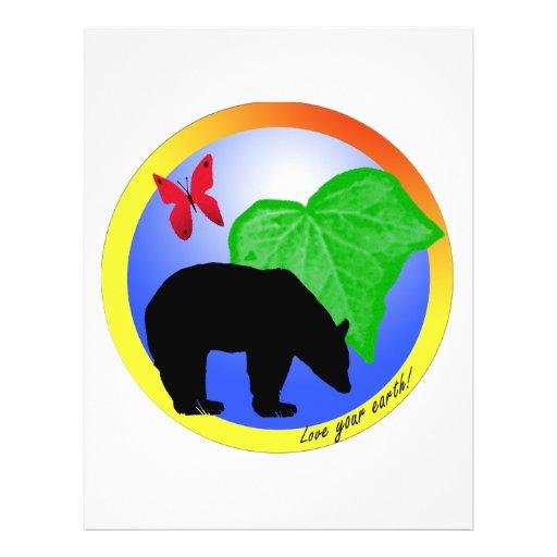 Aimez votre ours et papillon de la terre prospectus personnalisés