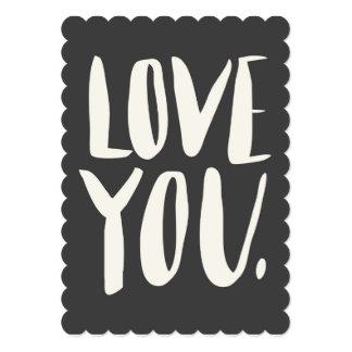 Aimez-vous carte plate crantée par gris carton d'invitation  12,7 cm x 17,78 cm