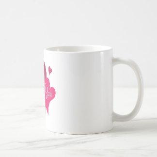 Aimez-vous coeur mug blanc