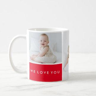 Aimez-vous collage de photo mug blanc