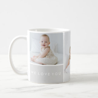 Aimez-vous collage de photo mug blanc