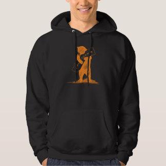 Aimez-vous la Californie--Orange et noir Veste À Capuche