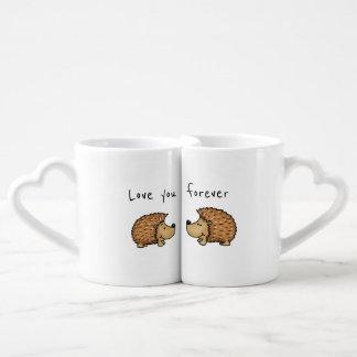 Aimez-vous pour toujours - des tasses de hérisson