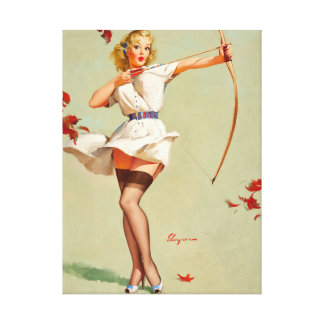 Aiming High Pin Up Art Canvas Print