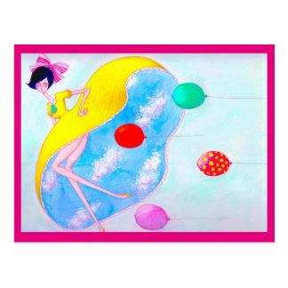 Aiming toward the sky (pink) postcard