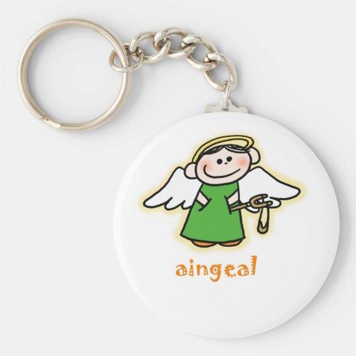 aingeal (little angel in Irish) Key Chain