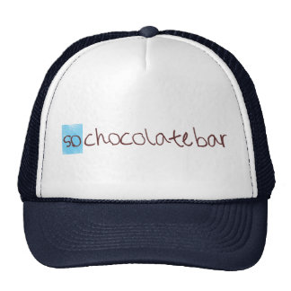 Ainsi chapeau de camionneur de barre de chocolat ! casquette