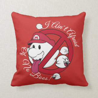 Ain't Afraid of nonBoos! Throw Pillow