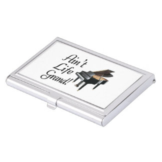 Ain't Life Grand Piano Business Card Holder