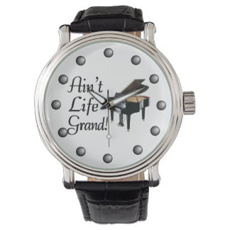 Ain't Life Grand Piano Wristwatch