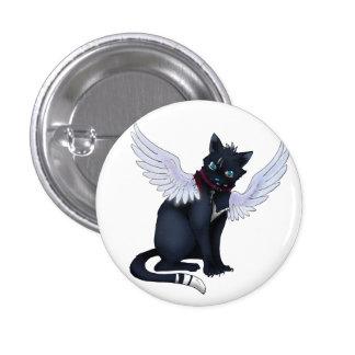 aint no angel cat badge 1 inch round button