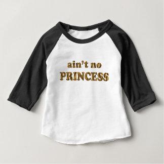 Ain't no princess | Fun Tiger Print Quote Baby T-Shirt