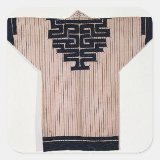 Ainu Coat, 19th century Square Stickers