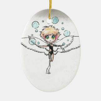 air angel ceramic oval ornament