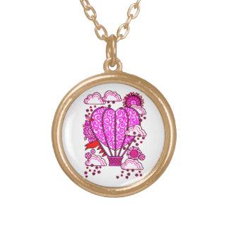Air Ballon 3 Gold Plated Necklace