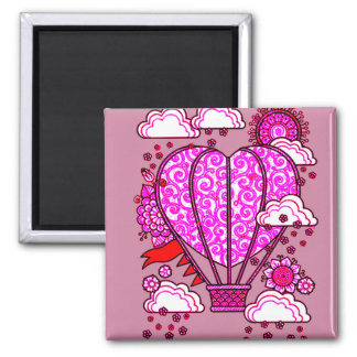 Air Ballon 3 Square Magnet