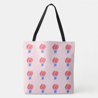 Air Balloon All-Over-Print Large Tote Bag