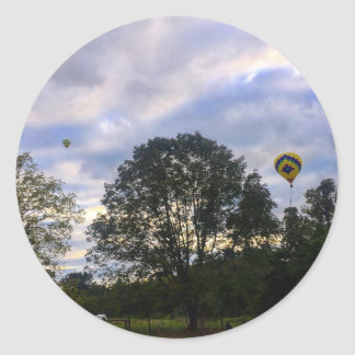 Air Balloon Classic Round Sticker