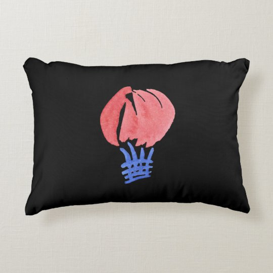 Air Balloon Cotton Accent Pillow