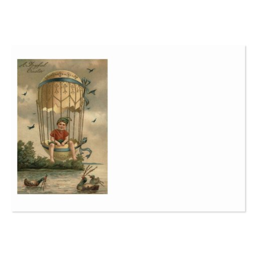 Air Balloon Easter Colored Painted Egg Duck Business Cards