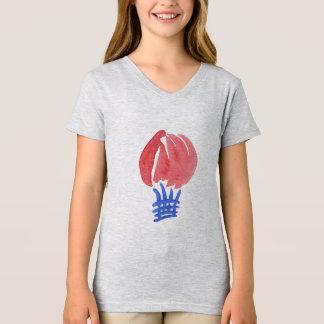 Air Balloon Girls' Jersey V-Neck T-Shirt